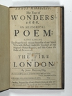 poem - Annus mirabilis: the year of wonders 1666: an historical poem