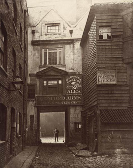 photograph; carbon print - The Oxford Arms, Warwick Lane, 1875
