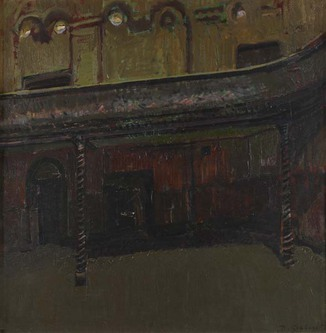 painting; oil on canvas - Wilton's Music Hall