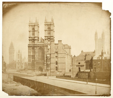 photograph; salt print - Westminster Abbey and Palace