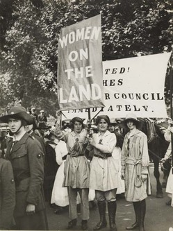 photograph - Land-girls at the Women's Right to Serve March